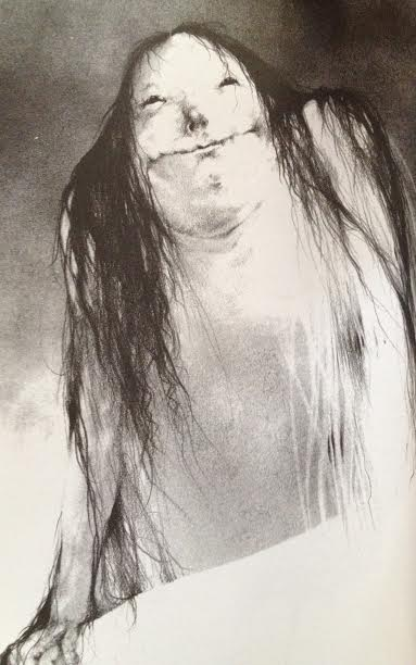 """Illustration of the Pale Lady in """"Scary Stories to Tell in the Dark."""""""