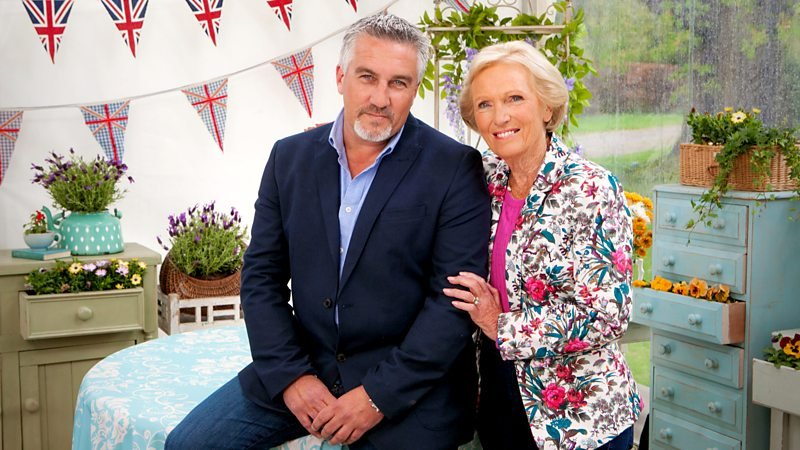 Host of the Great British Baking Show Paul Hollywood and former host Marry Berry.