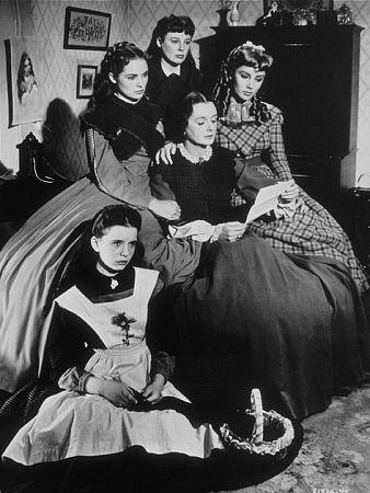 June Allyson, Elizabeth Taylor, Mary Astor, Margaret O'Brien, and Janet Leigh in Little Women