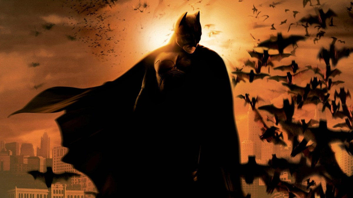 The masked character Batman from the film Batman Begins.