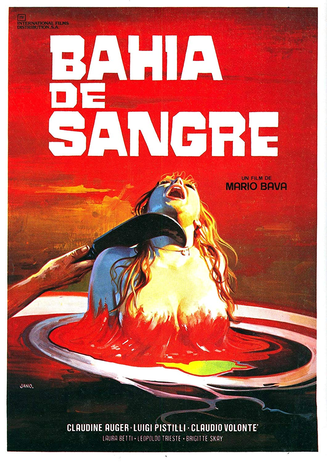 Spanish movie poster of the horror film, A Bay of Blood.