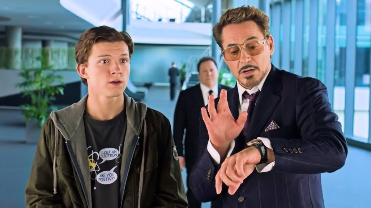 Tony Stark (Robert Downey Jr.) and Peter Parker (Tom Holland) are all business