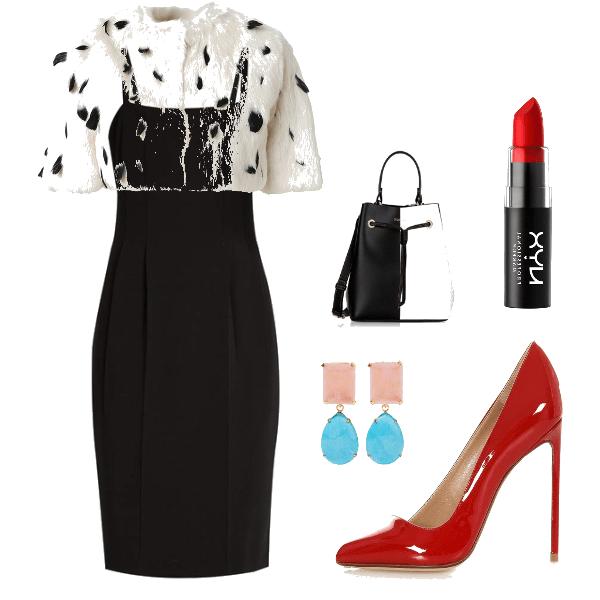 Cruella De Vil outfit.