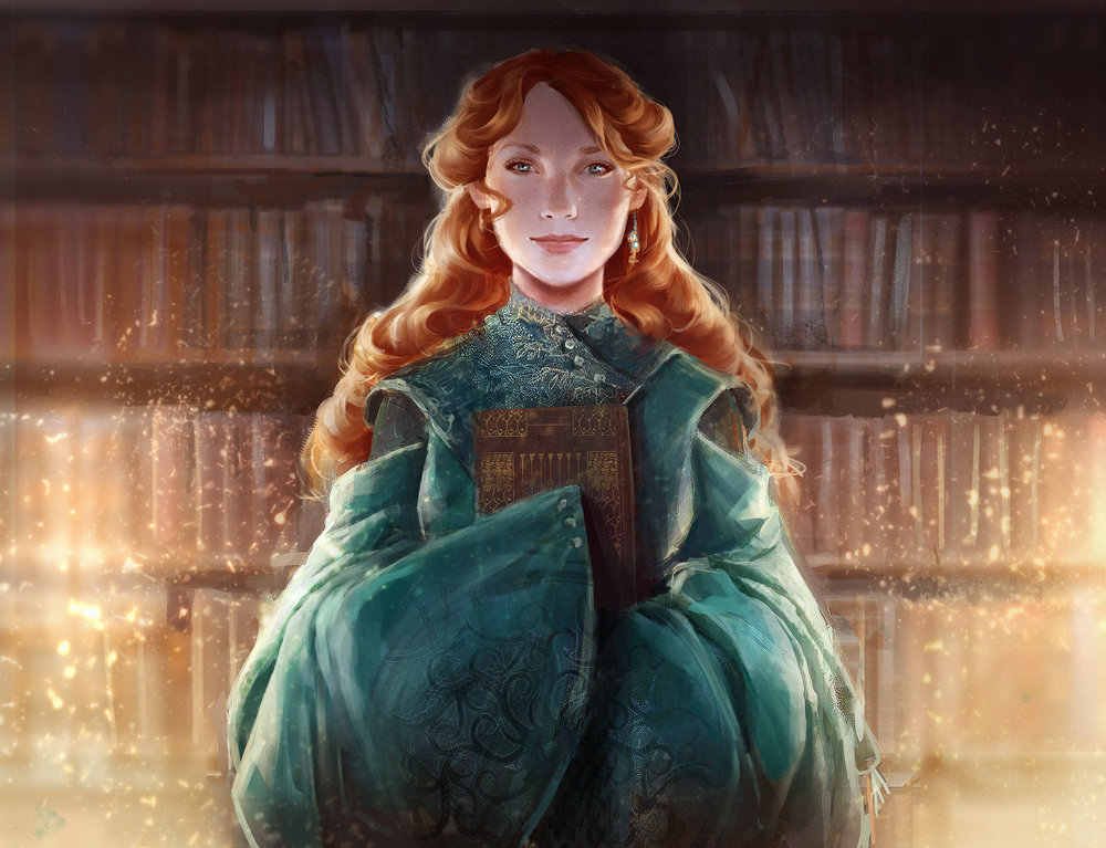 Depiction by Alex Allen of Shallan in the Stormlight Archives