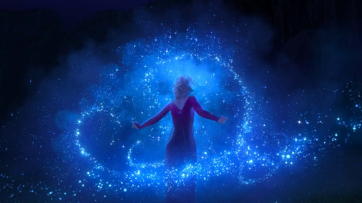 Elsa being her best self in Frozen II.