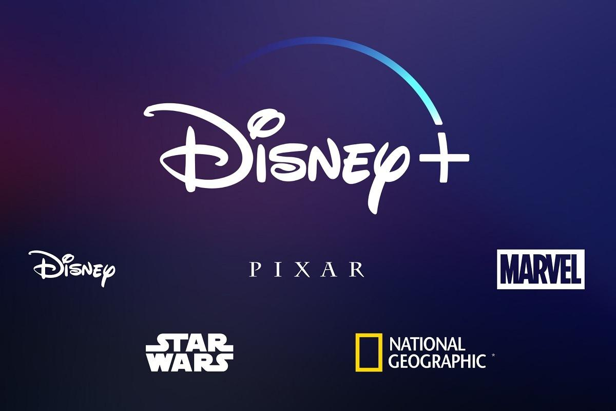 Blue Disney+ sign which sows all the tv providers.