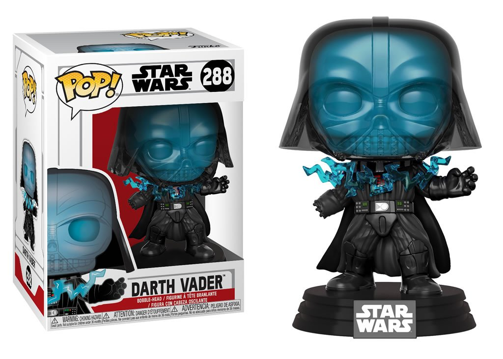 Darth Vader being electrocuted Funko Pop Figure.
