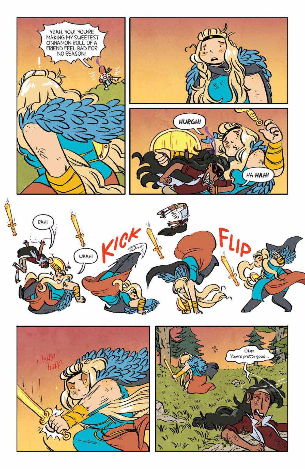Freya gets yelled at by April on page 6 of Lumberjanes #68