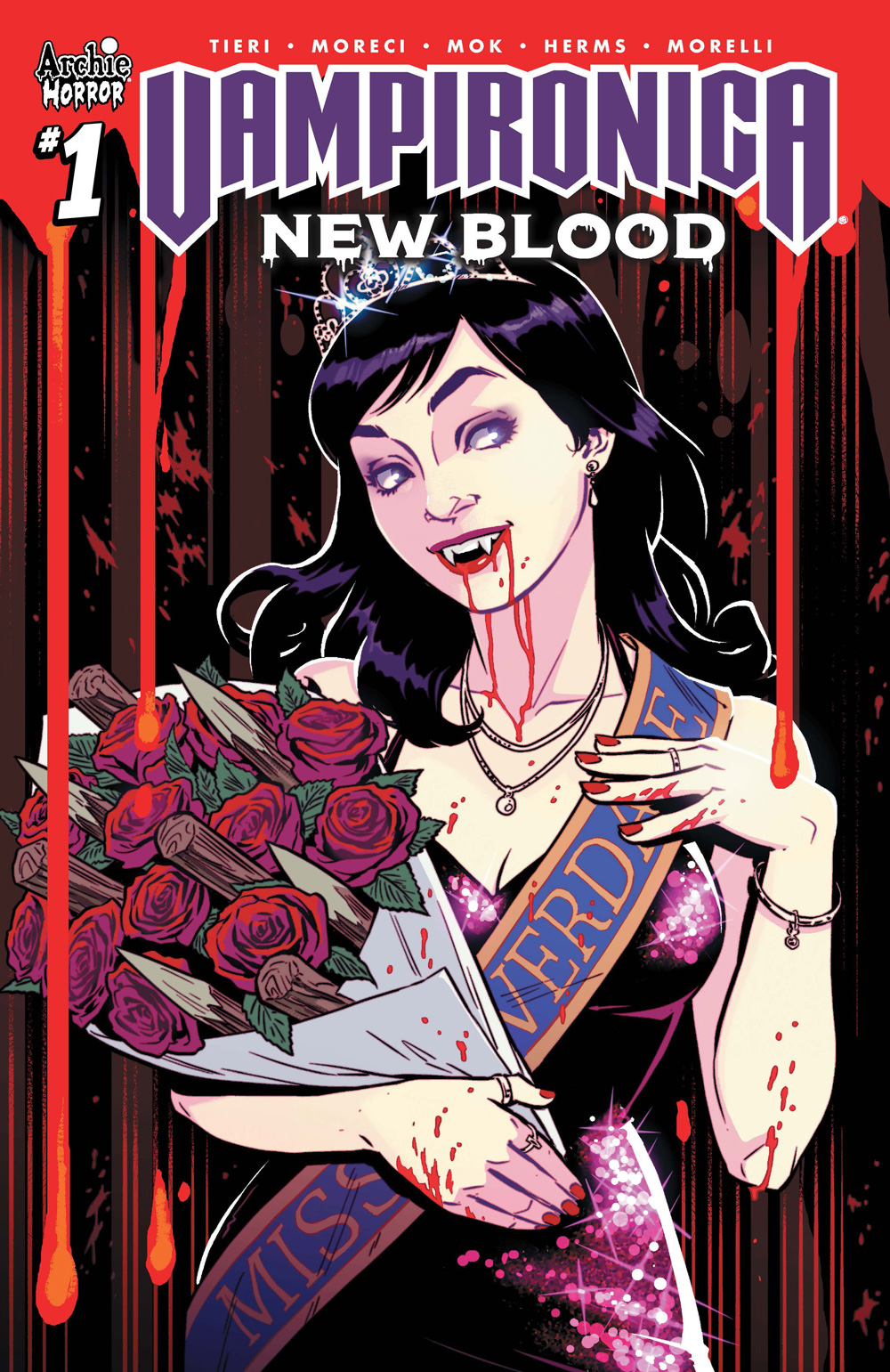 Variant Cover for New Blood #1 under Archie Comics 2019.
