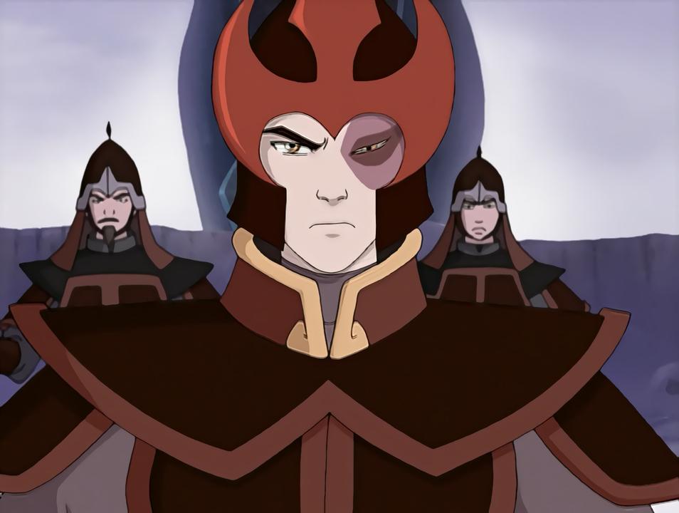 Prince Zuko in fire nation armor.