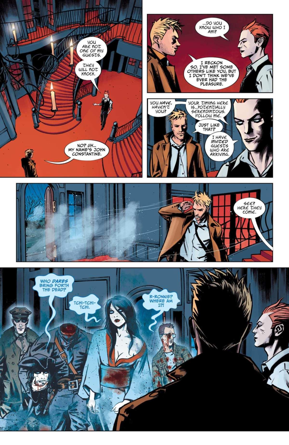 Lucifer #15, Page #4: Lucifer's dead guests arrive
