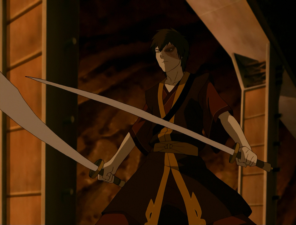 The character with dual swords.