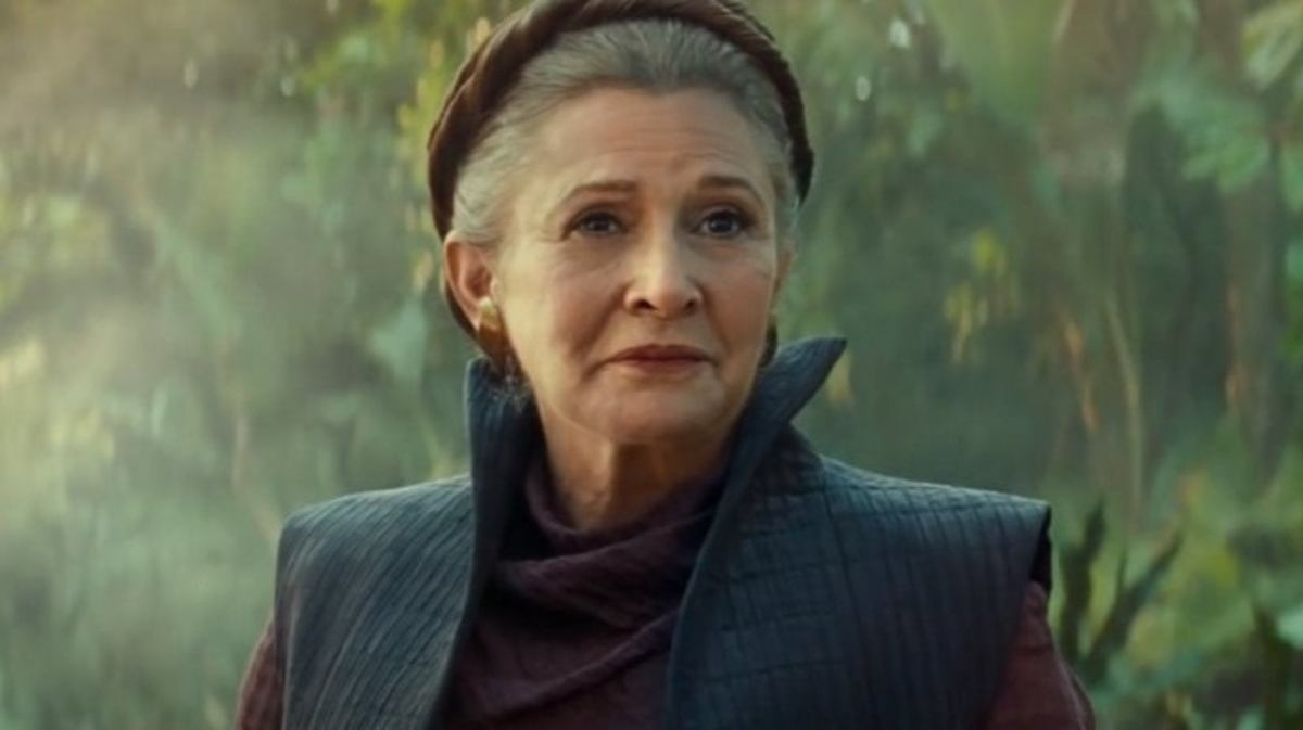 Princess Leia in Star Wars Episode IX: The Rise of Skywalker.