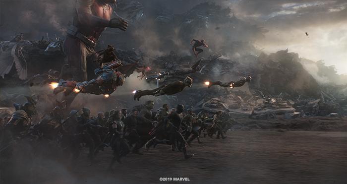 The final battle in Avenger's Endgame.