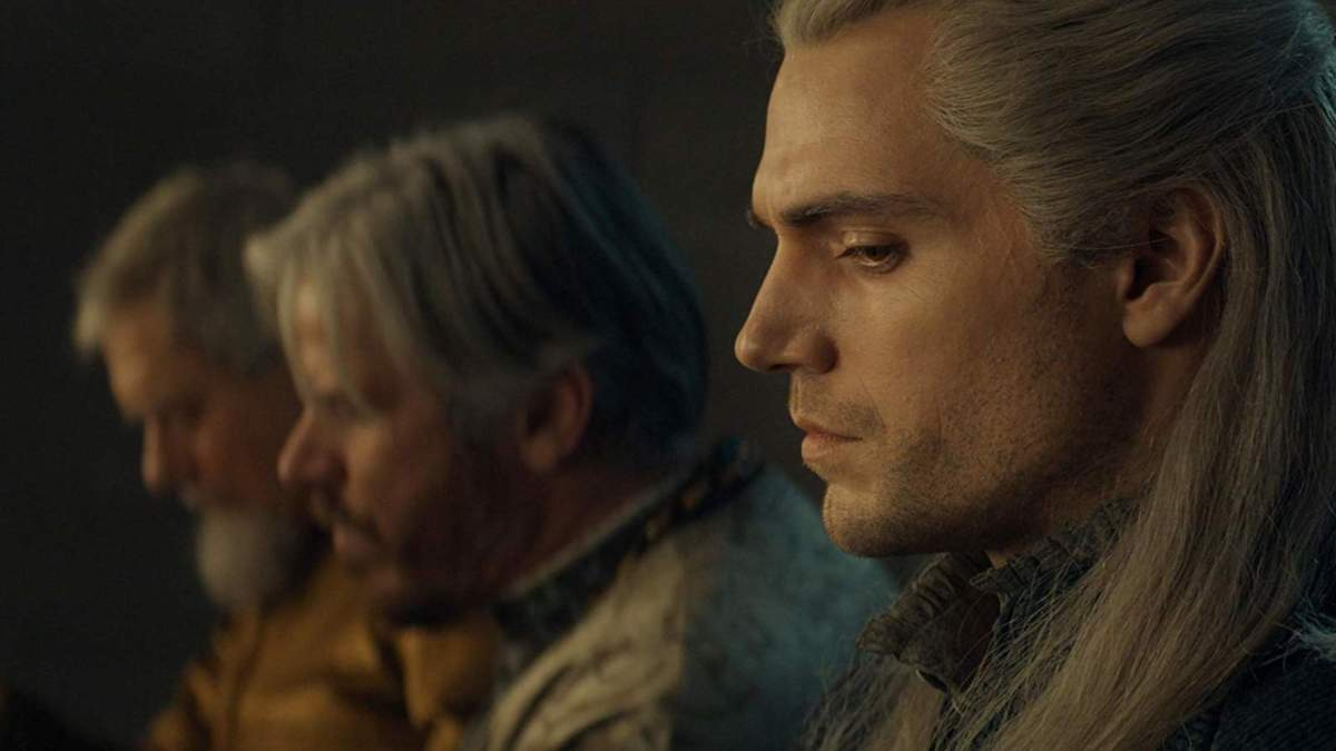The Witcher, Geralt of Rivia, attending court in Cintra, displaying non toxic masculinity.