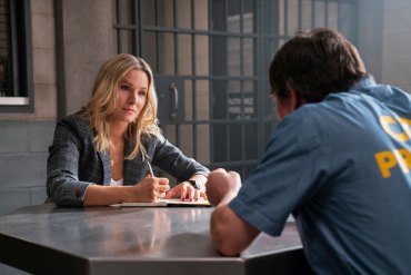 "Veronica Mars -- ""Heads You Lose"" - Episode 404 -- Convinced the bomber is still at large, Veronica visits Chino to learn more about Clyde and Big Dick. Mayor Dobbins' request for help from the FBI brings an old flame to Neptune. Veronica confronts her mugger. Veronica Mars (Kristen Bell), shown. (Photo by: Michael Desmond/Hulu)"