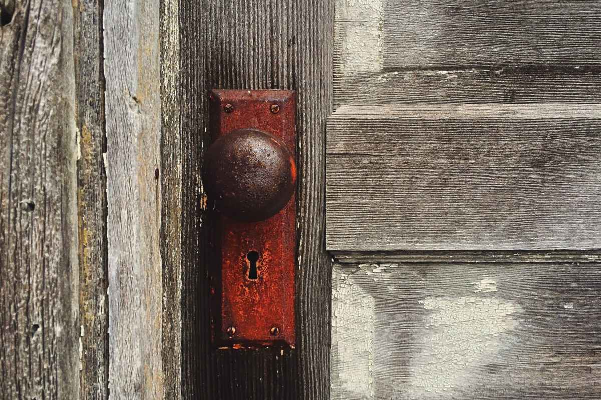 Wooden door and handle