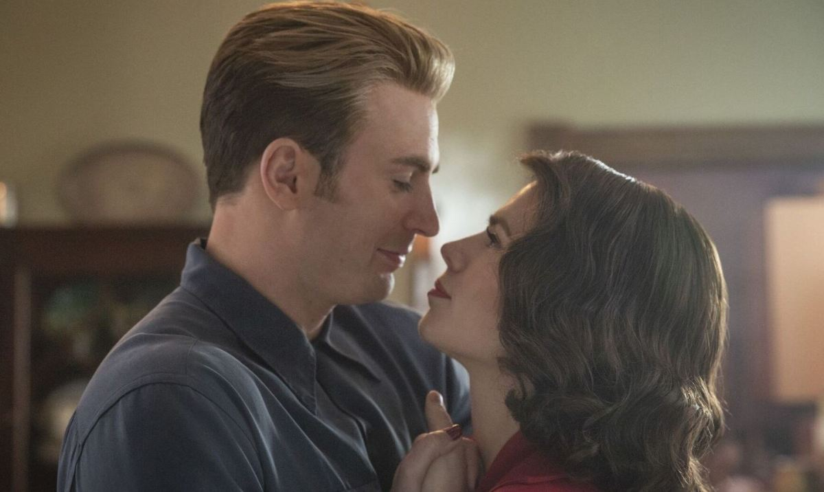 Steve and Peggy dancing at the end of Avengers: Endgame