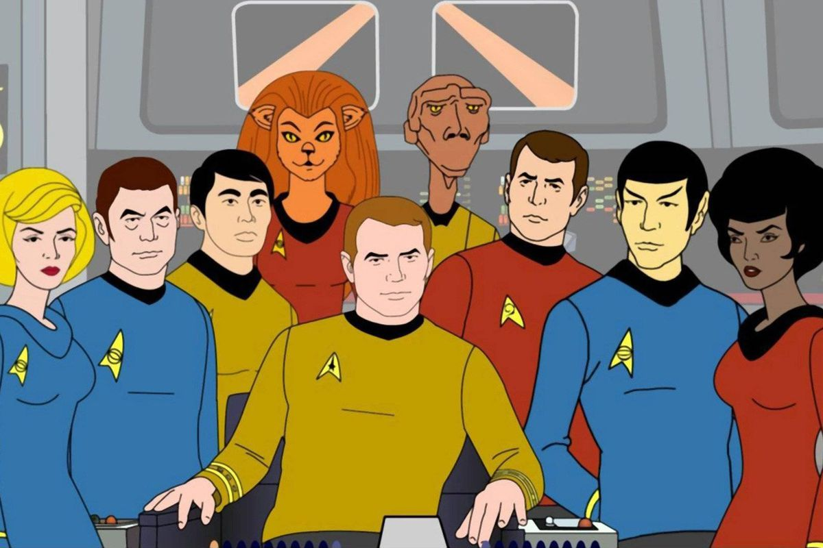 The animated cast of Star Trek