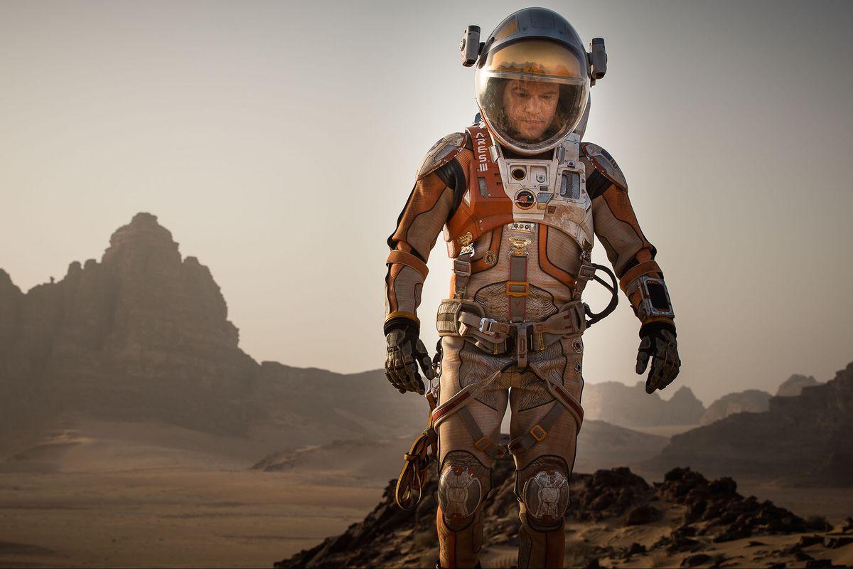 Astronaut Mark Watney on Mars.