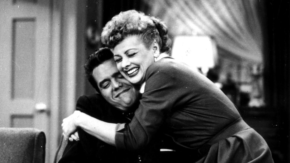Lucille Ball and Desi Arnaz of I Love Lucy, one of the most iconic TV shows