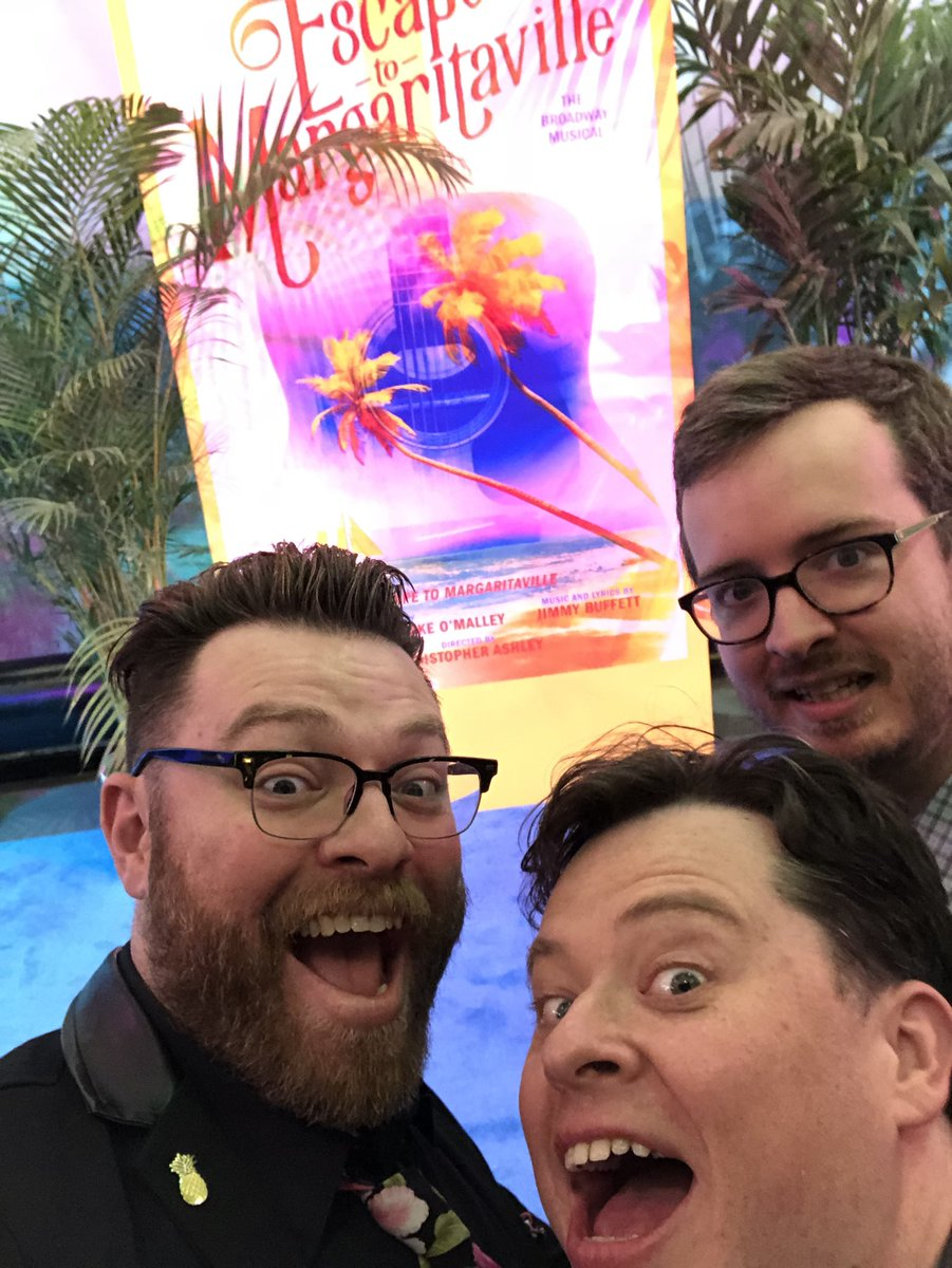 MBMBaM at the Escape To Margaritaville red carpet