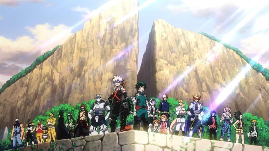 Screenshot from the Heroes Rising trailer of class 1A