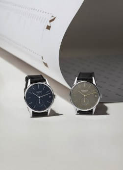 Nomos Orion Neomatik 41 in new colours: olive gold and midnight blue