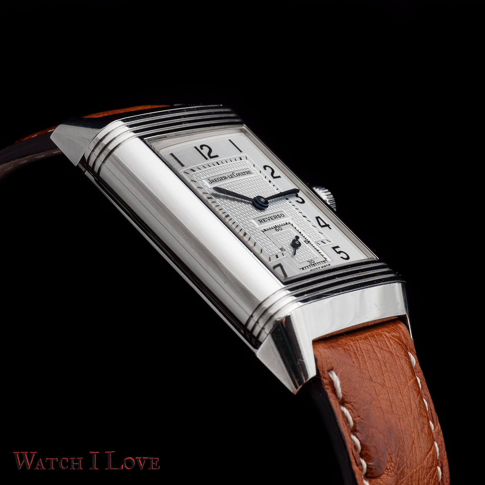 Jaeger-LeCoultre Reverso Duoface Day&Night oblique crown view