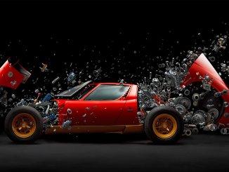 """Disintegrating X"" by Swiss photographer Fabian Oefner"