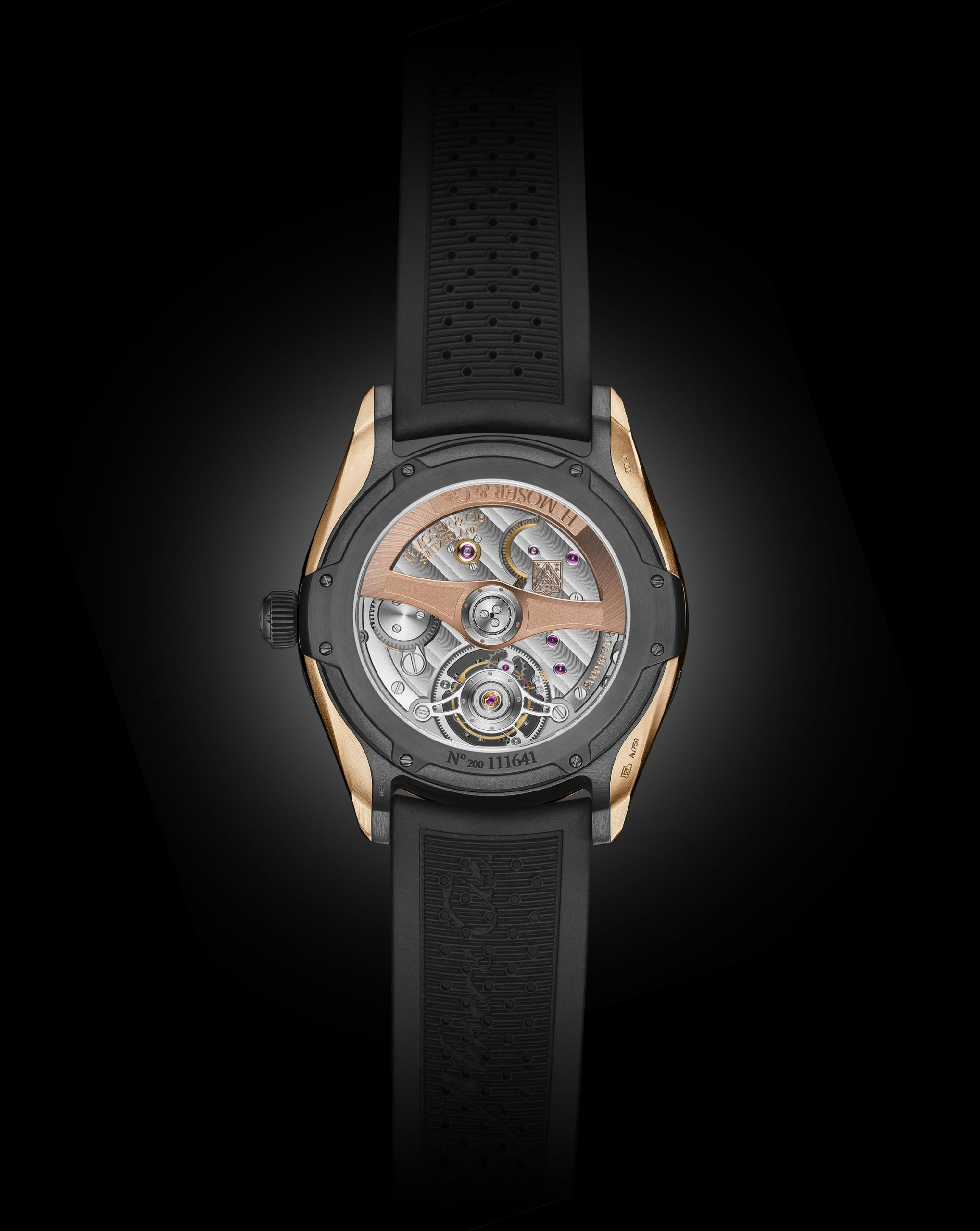 Moser Pioneer Tourbillon back