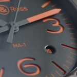 Bell & Ross BR 03-92 MA-1 dial date detail