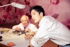 Jing Boran with Jaeger-LeCoultre watchmaker Christian Laurent