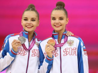 Unstoppable Longines Ambassadors of Elegance Arina and Dina Averina at the 37th Rhythmic Gymnastics World Championships
