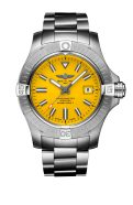 avenger-automatic-45-seawolf-in-stainless-steel-with-yellow-dial-and-stainless-steel-bracelet-1