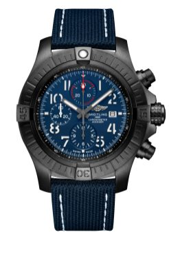 super-avenger-chronograph-48-night-mission-in-dlc-coated-titanium-with-blue-dial-and-blue-leather-military-strap-1