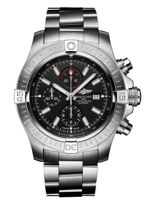 super-avenger-chronograph-48-night-mission-in-stainless-steel-with-black-dial-and-stainless-steel-bracelet-1