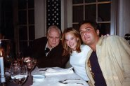 Brando Family - Petra with Marlon and Russel Fischer taken in May 1998, courtesy of Petra Brando