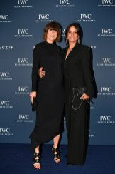 """Annina Frey and Melanie Winiger attend the IWC Private Dinner held at Haute on October 05, 2019 in Zurich, Switzerland. During the event, Australian actor and IWC brand ambassador Cate Blanchett presented the 5th Filmmaker Award. The film """"Wanda, my miracle"""", directed by Bettina Oberli and produced by Lukas Hobi and Reto Schaerli, was declared the winner by the jury. The award, which is worth CHF 100,000, supports outstanding Swiss film projects that are in the production or post-production stage. (Photo by Harold Cunningham/Getty Images for IWC)"""