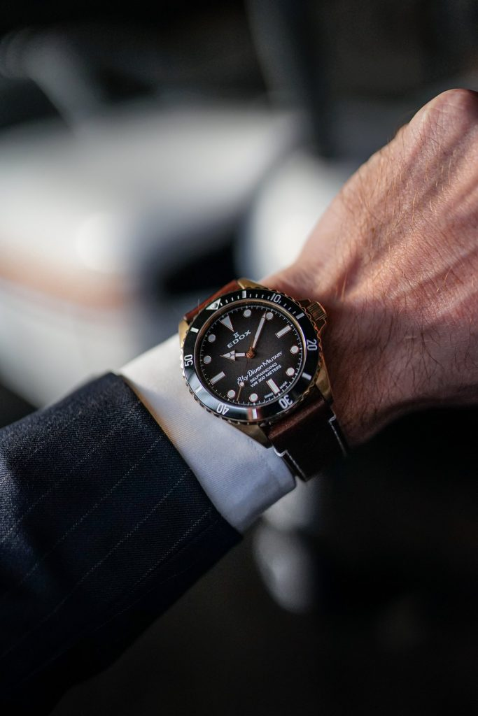 Edox Skydiver Military Bronze Limited Edition