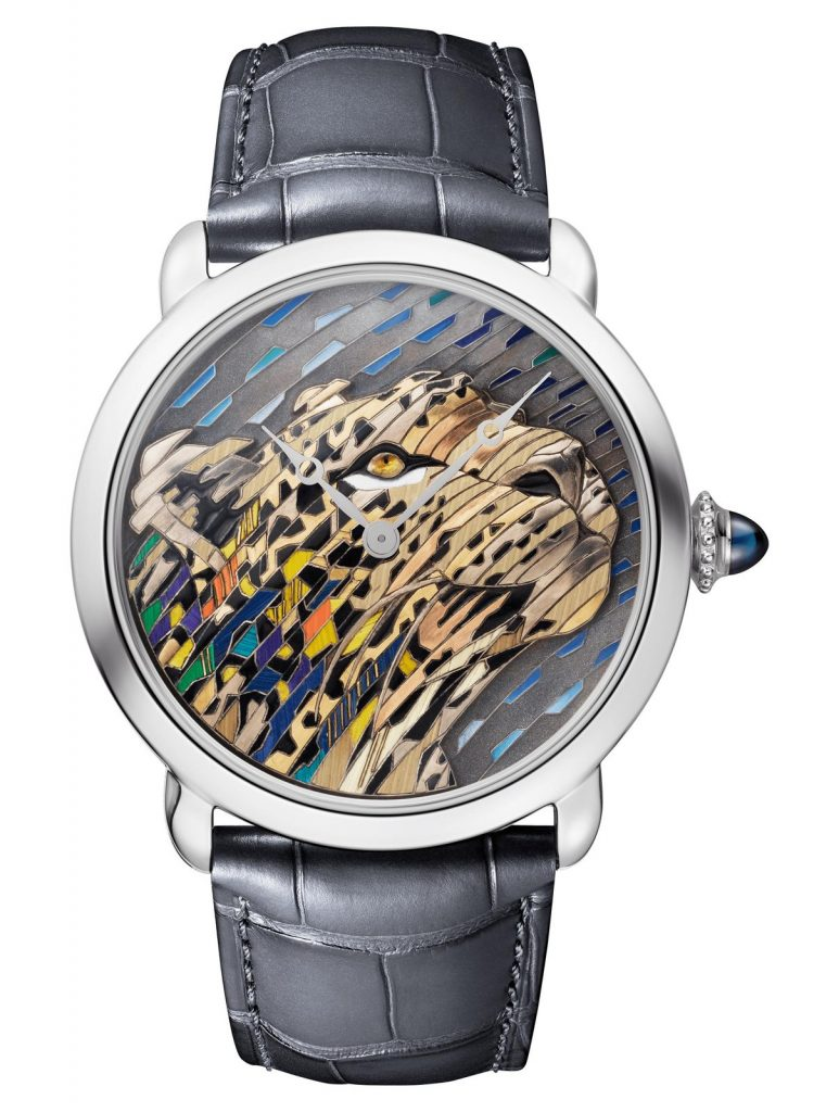 Ronde Louis Cartier - Straw and Gold Marquetry