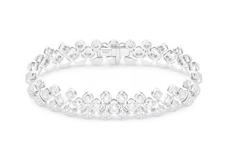 SPARKLING NIGHT BRACELET 18K white gold bracecletset with 275 brilliant-cut diamonds (approx. 6.96 cts) G36N1900