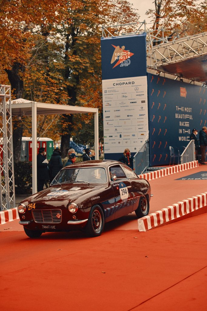 Chopard team car leaving the famous ramp of Mille Miglia (c) Adam Fussell