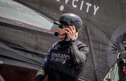 Emirates Team New Zealand's AC75 'Te Aihe' on the Waitemata Harbour in Auckland, New Zealand 36th America's Cup