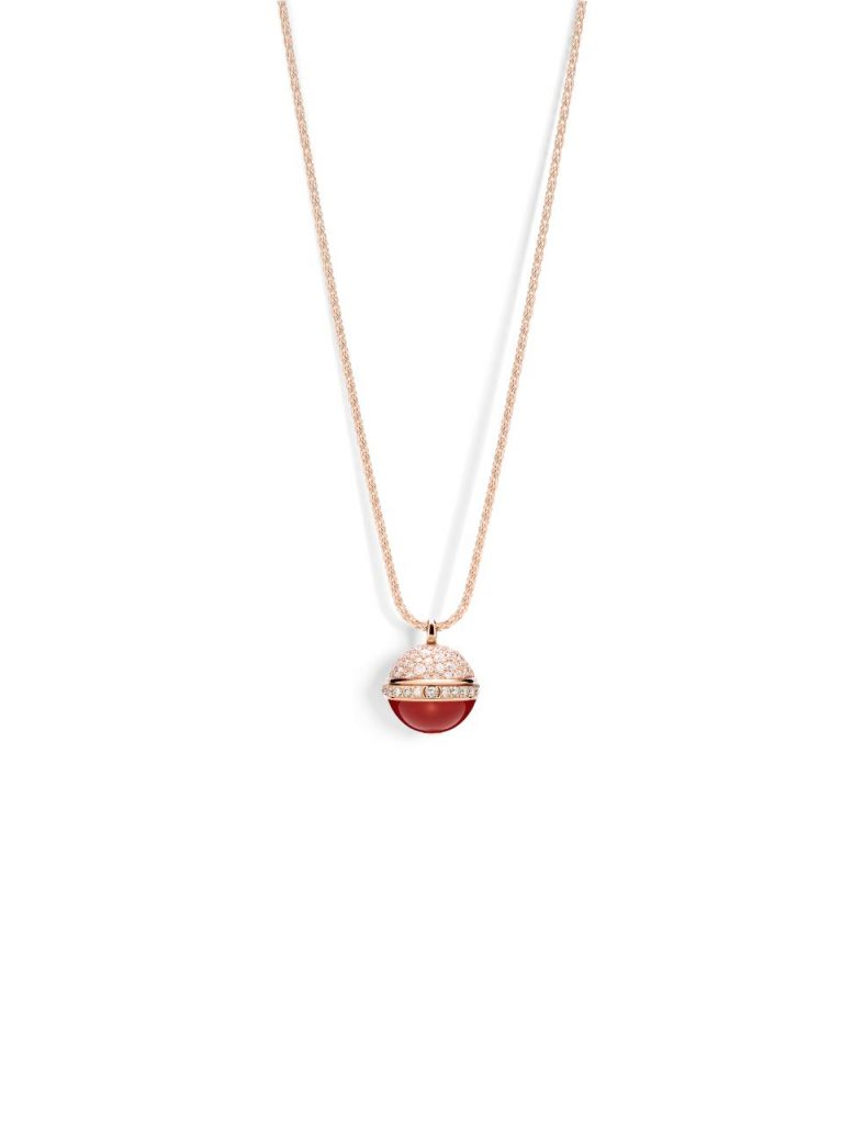 Piaget Possession Pendant Rose Gold Carnelian Reference G33PC700
