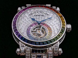 Franck Muller Tourbillon Rainbow invisible set baguette diamonds
