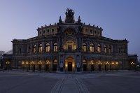 The Semper Opera House on Dresden's Theaterplatz.
