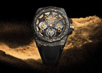 Admiral 45 Automatic Openworked Flying Tourbillon Carbon & Gold
