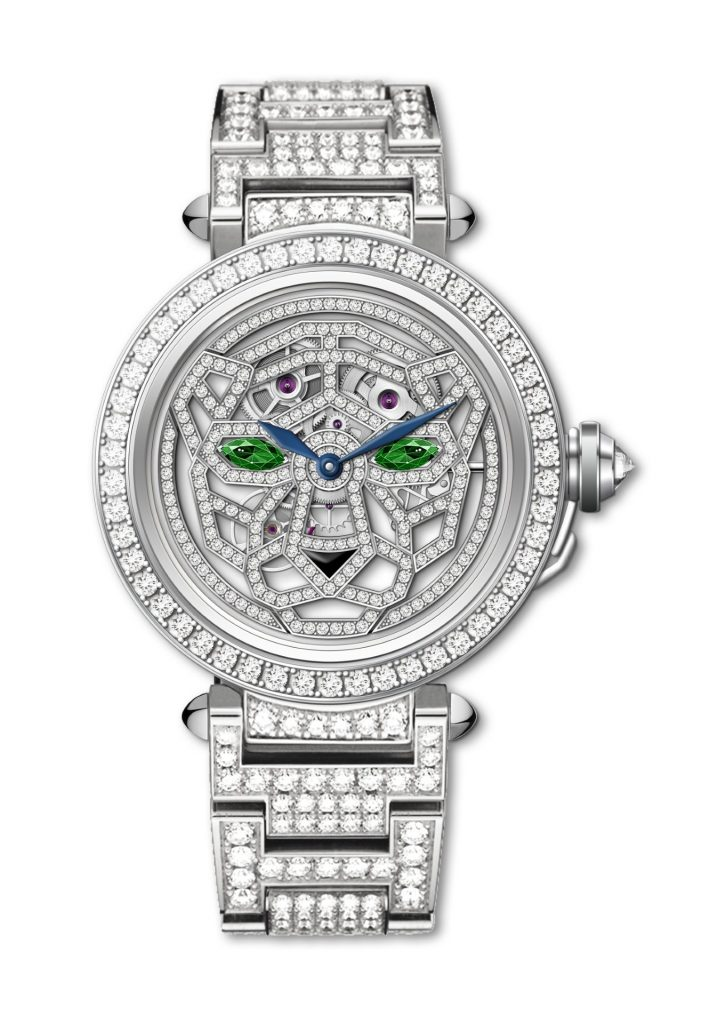 Pasha de Cartier 41mm Skeleton Diamonds