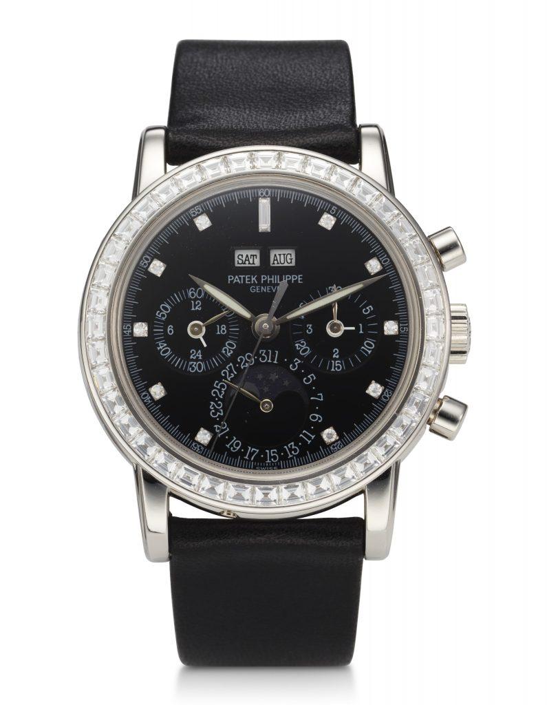 Patek Philippe, Perpetual Calendar, Chronograph, Platinum, Diamonds, Ref. 3990E